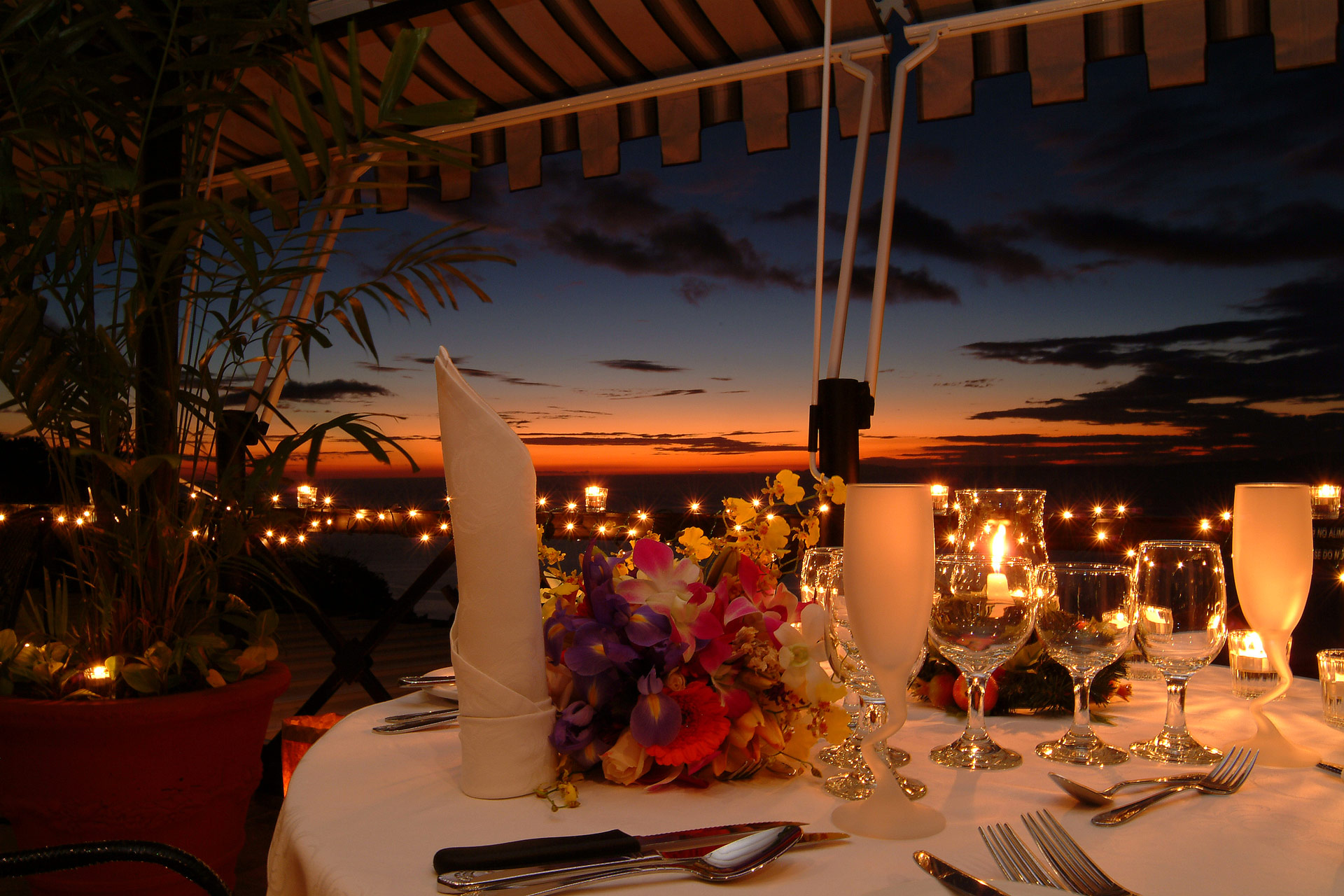 View from Mirador restaurant terrasse