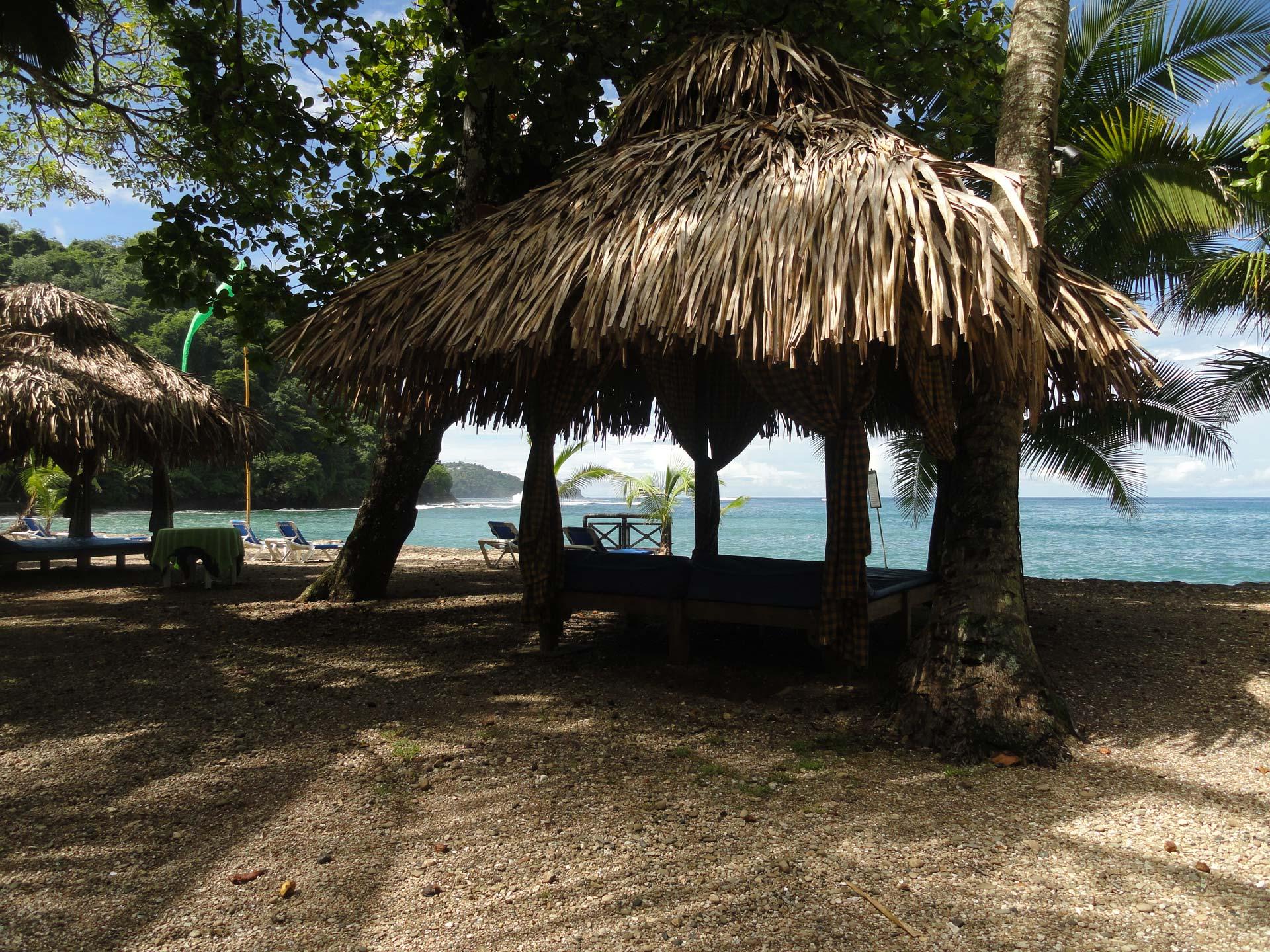 beach cabana at hotel villa caletas
