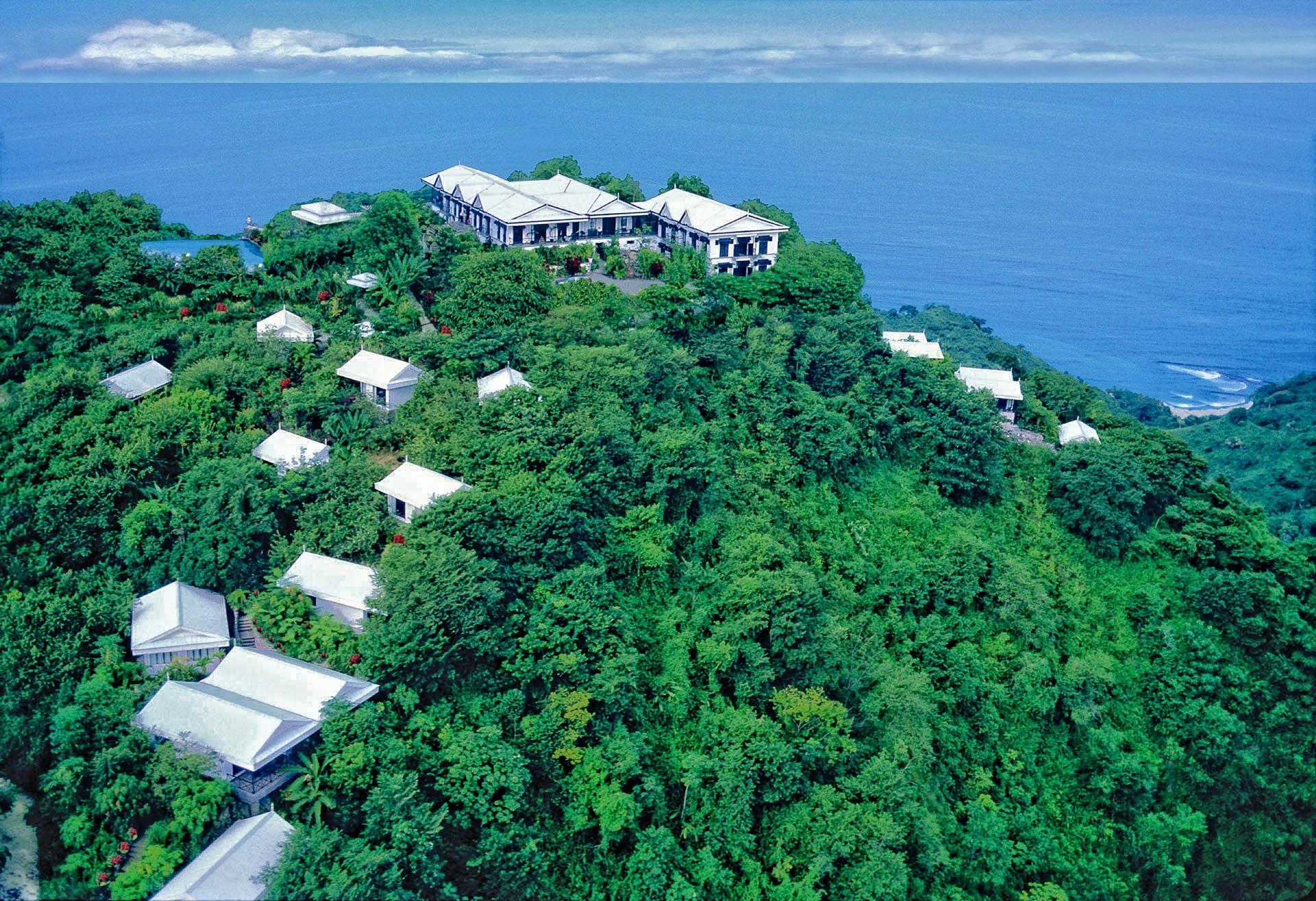 bird view from hotel Villa Caletas